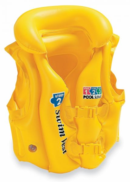 Intex Deluxe Pool Swim Vest, Yellow [58660]