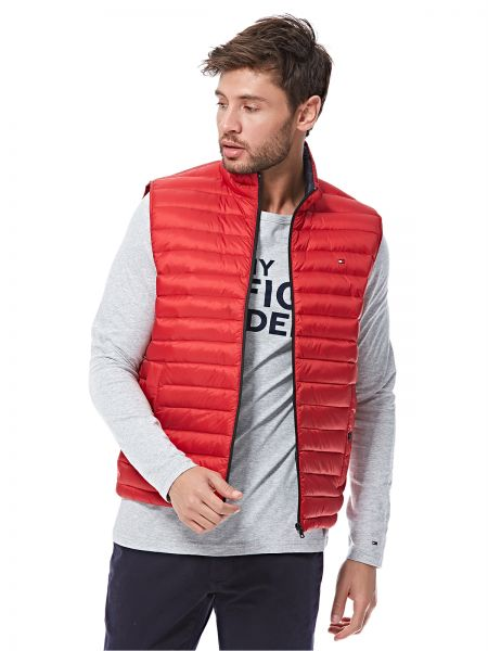 Tommy Hilfiger Puffer Jacket for Men - Red