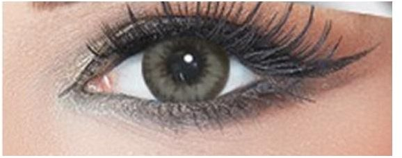 Bella Diamond Collection Unisex Cosmetic Contact Lenses - Grey Green - [ BL-GY-GN Power 0.00]