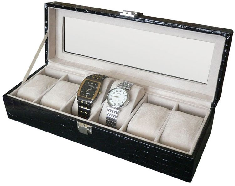BeeCool 6-Piece Watch Organizer (Black)