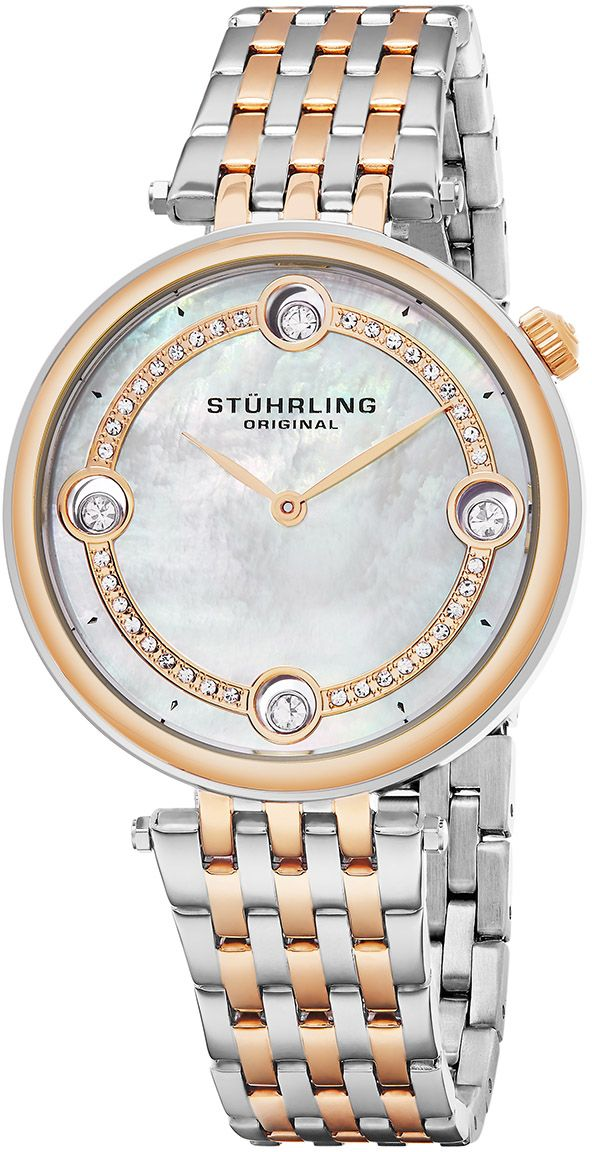 Stuhrling Women`s Silver Dial Stainless Steel Band Watch - 716.03