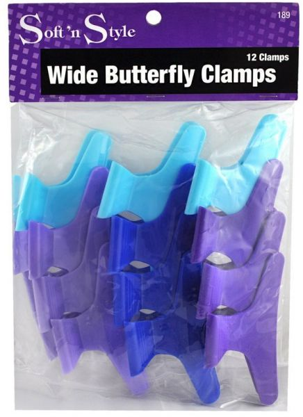 Soft `N Style Butterfly Clamps, Assorted Colors, 1 Dozen