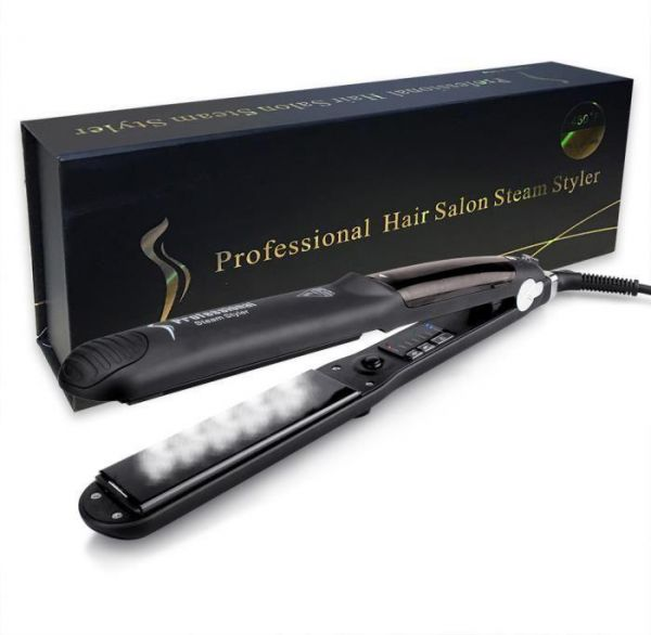 Steam Straighteners for Hair, Steam Flat Iron with Adjustable Temperature for All Types of Hair