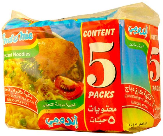 INDOMIE INDOMIE CHICKEN CURRY, 5 x 75GM
