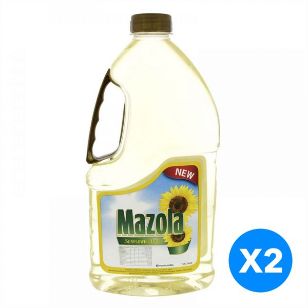 Mazola Sunflower Oil, Pack of 2 - 1.8 Liter