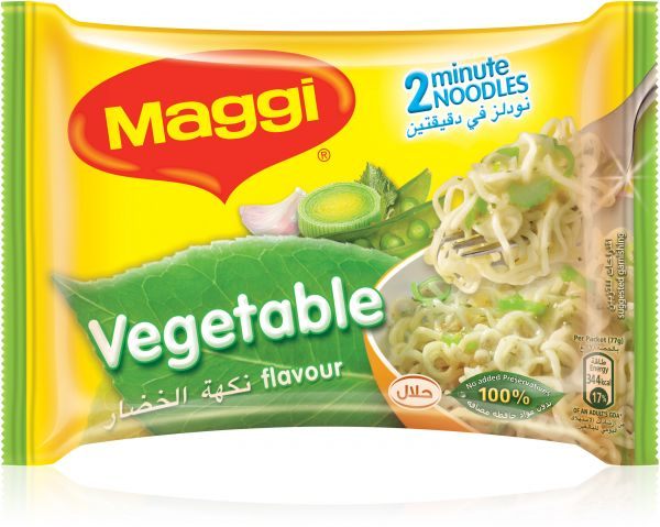 Maggi 2 Minutes Noodles - Vegetables, 5 x 77g