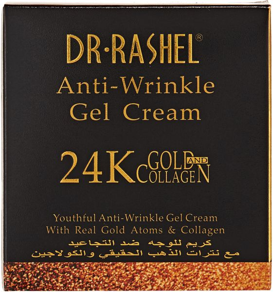 Dr-Rashel 24K Anti-Wrinkle Gel Cream With Real Gold Atoms and Collagen, 50 ml