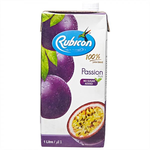 Rubicon Passion Fruit No Added Sugar Juice Drink - 1Litre