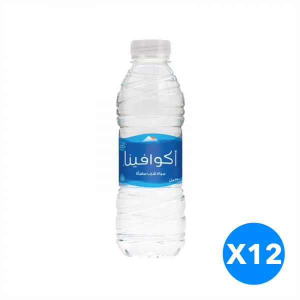 Aquafina Water, Pack of 12 - 330 ml