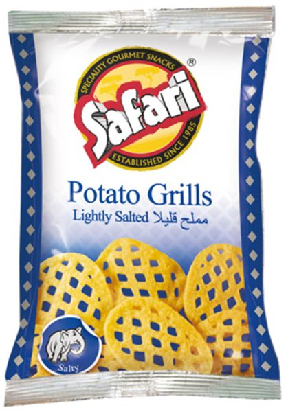 Safari Potato Grills Salted - 20gm