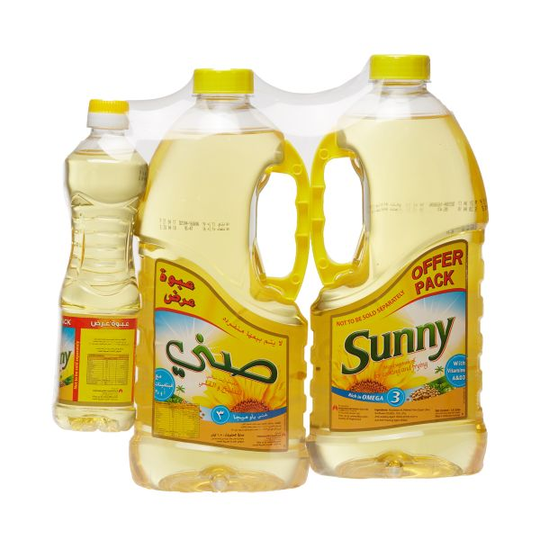 Sunny 1.8 Liter, Pack of 2 + 500ml Cooking Oil
