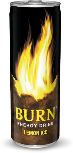 Burn Lemon Ice Energy Drink - 250ml Can