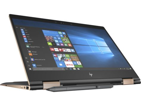 HP Spectre x360 13-ae001ne 2-in-1 Laptop - Intel Core i7-8550U, 13.3-Inch FHD IPS Touch, 1TB SSD, 16GB, Eng-Arb-KB, Windows 10, Black/Gold