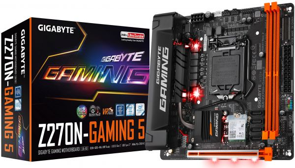 GIGABYTE GA-Z270N-Gaming 5 LGA1151 Intel Z270 RGB Fusion HDMI DP USB3.1 Type-C Mini-ITX DDR4 Motherboard