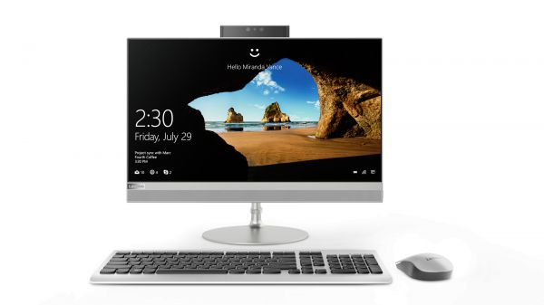 Lenovo IdeaCentre AIO 520 Desktop - Intel Core i5-8250U, 21.5-Inch Touch, 1TB, 8GB, 2GB VGA, Eng-Arb-Keyboard, Windows 10, Silver