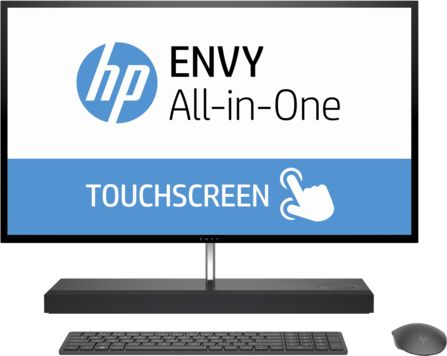 HP ENVY All-in-One 27-b100ne Desktop - Intel Core i7-7700T, 27 Inch QHD IPS Touch, 1TB+128GB, 16GB, 4GB VGA-GTX950M, Win 10, Gray