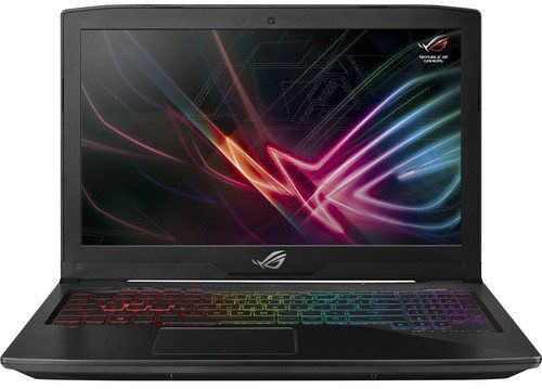 Asus ROG STRIX GL503VM-FY113T Gaming Laptop -Intel Core i7-7700HQ, 17.3-Inch FHD, 1TB HDD + 256GB SSD, 16GB RAM, 6GB VGA-GTX1060, Windows 10, En-Ar Keyboard, Black Metal