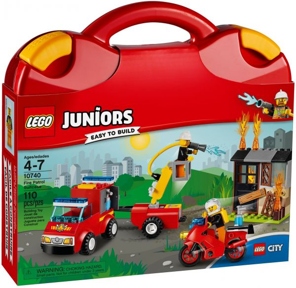 Lego Juniors Fire Patrol Suitcase Building Toy - 10740