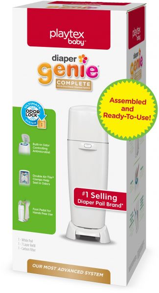 Diaper Genie Playtex Fully Assembled Complete Diaper Pail with Odor Lock Technology & Refill Multi 00073800023293