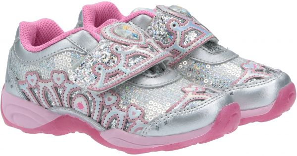 Stride Rite Disney Fashion Sneakers for Girls - Silver & Pink