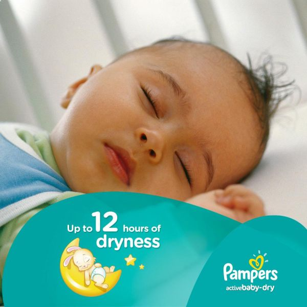 Pampers Active Baby Dry Diapers, Size 6, Triple Mega Pack - 15+ kg, 144 Count