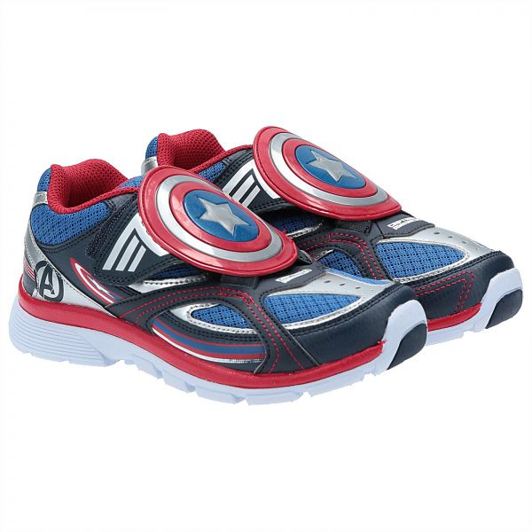 Stride Rite Captain America Fashion Sneakers for Boys - Multi Color