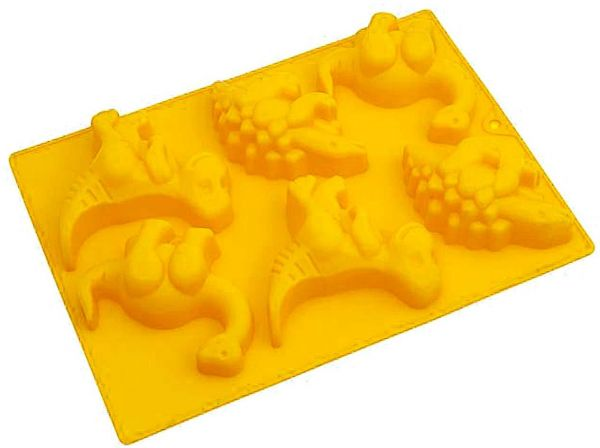 Liying Multipurpose Silicone Bake Mold Dinosaurs, Yellow