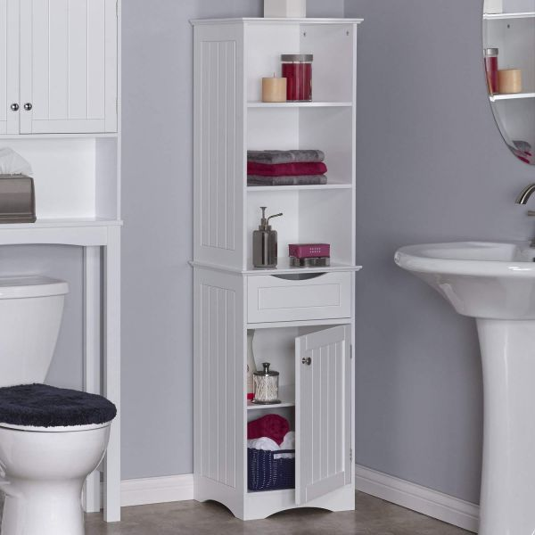 A to Z Furniture-Ashland Tall Cabinet in White