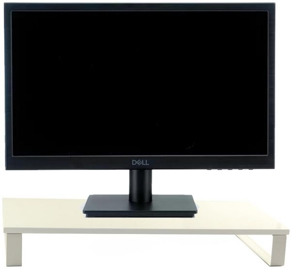 Computer Monitor Riser TV Stand Desktop Stand White size H 8.5 cm x W 60 cm x D 26 cm