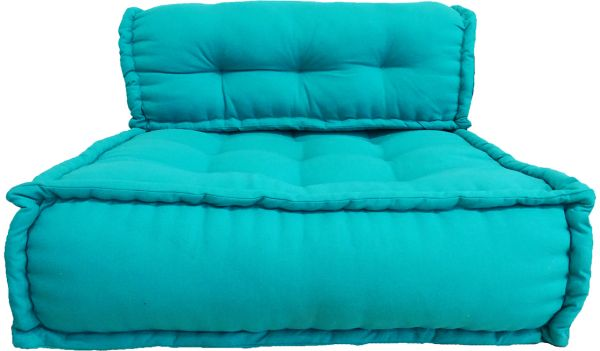 Villa 39 Foldable Sofa Cotton Comfy Floor Seat, Turquoise