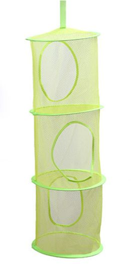 3Tier Storage Organizer-Hang in Your Childrens Room or Closet for a Fun Way to Organize Kids Toys or Store Gloves, Shawls, Hats and Mittens,Attaches Easily to Any Rod