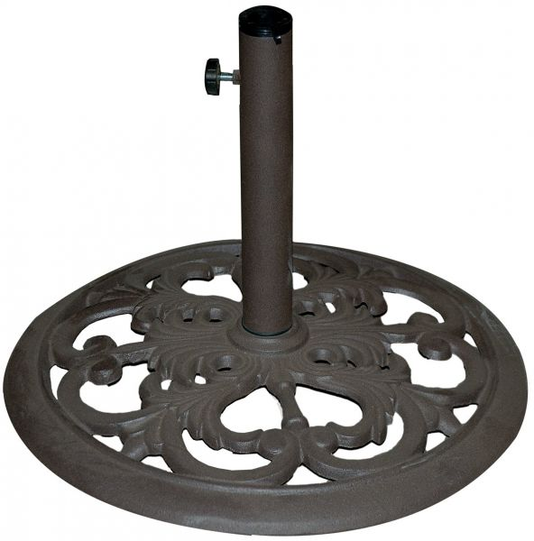 TropiShade 30-Pound Bronze Powder-Coated Cast Iron Umbrella Stand