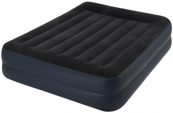 Intex 64124 Airbed Inflatable Double Mattress With Bulit-in Electric Pump 152x203x42cm