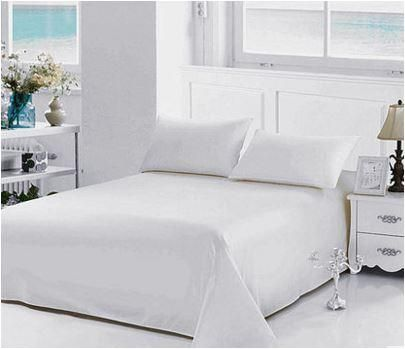 Feifei Home Twin/Single Size, Poly Cotton,Solid Pattern, White - Bed Sheets