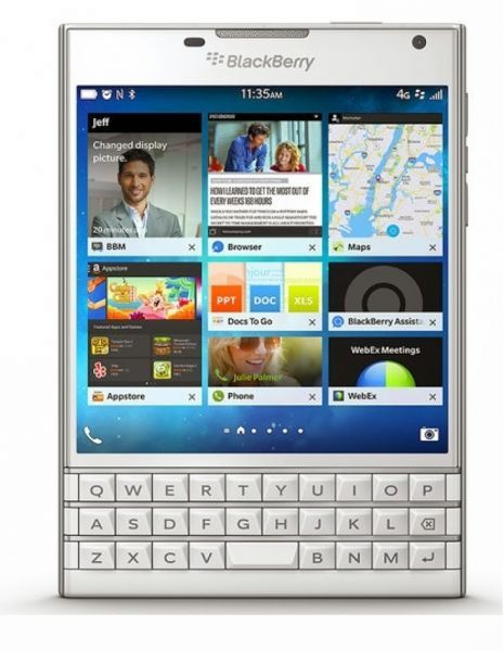 BlackBerry Passport - 32GB, 3GB RAM, 4G LTE, White, En-Ar KB