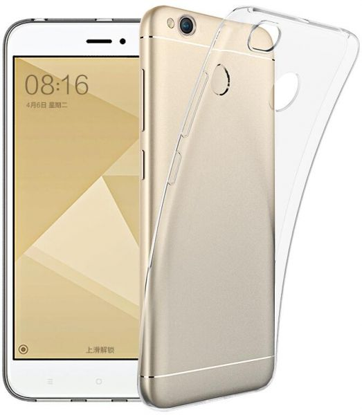 Ultra Thin Soft TPU Clear Back Cover For Xiaomi Redmi 4X