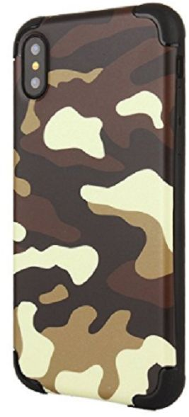 DOWIN Fashion brown Camouflage TPU Hybrid Case Cover For iPhone X