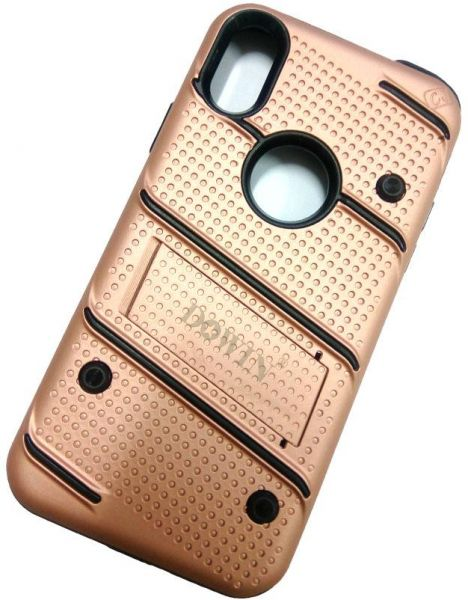 Dowin ROSE GOLD protective cellphone cover with kickstand for IPHONE X 5.8