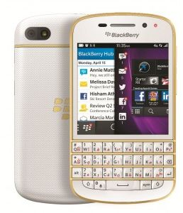 BlackBerry Q10 - 16GB, 4G LTE, WhiteGold