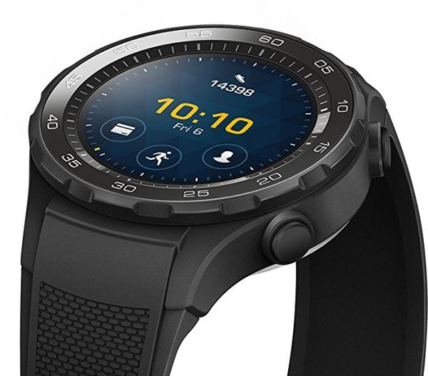 Huawei Watch 2 Smart Watch - WiFi, Carbon Black - LEO-BX9