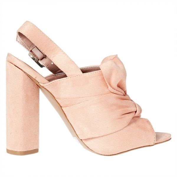 QUPID Heel Sandals for Women - Pink