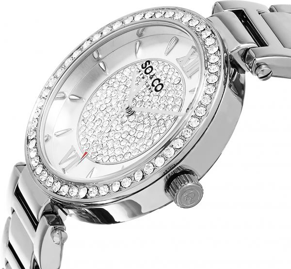 SO&CO New York Madison Women`s Silver Dial Stainless Steel Band Watch - 5234.1