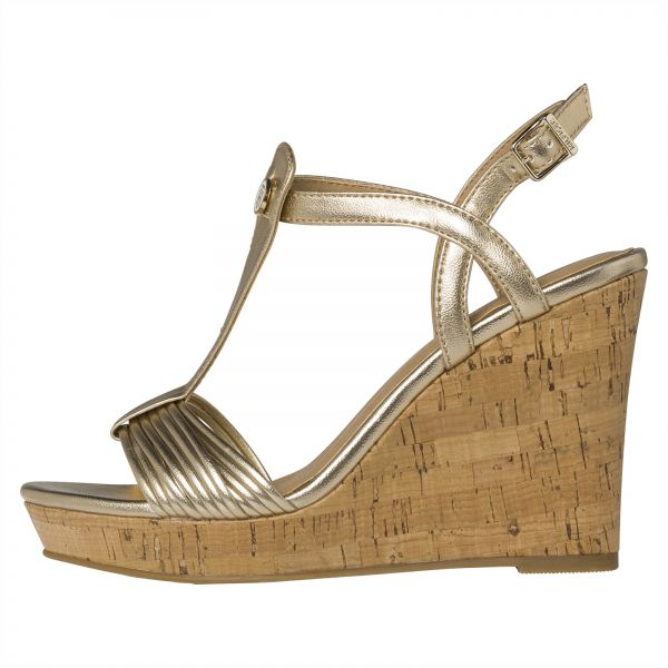 Tommy Hilfiger Wedges for Women - Gold