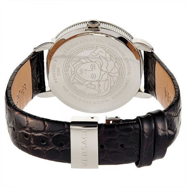 Versace Krios Women`s Black Dial Leather Band Watch - M6Q99D008 S009